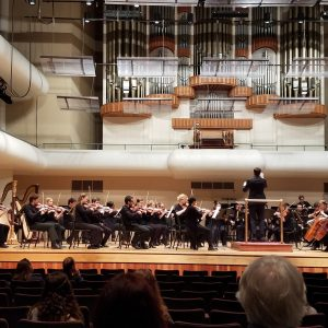 Huxford Symphony Orchestra performs in the Moody Music Building Concert Hall